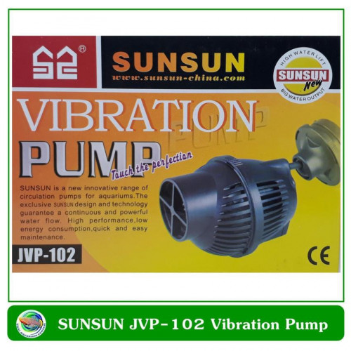 SUNSUN Vibration Pump JVP-102 อุปกรณ์ทำคลื่น แบบหัวเดียว สำหรับตู้ปลาทะเล
