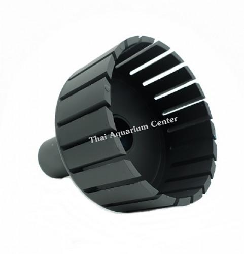 สกิมเมอร์ + สะดือบ่อเทียม ขนาดหน้าจาน 5 นิ้ว ท่อ PVC 1 นิ้ว แบบตัดเฉียง ชุบสีดำ 4