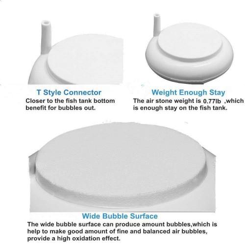 Nano Air Stone HT100 หัวทรายจาน สีขาว ฟองอากาศขนาดเล็ก ขนาด 10 ซม. 4