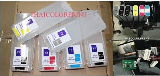 HP INKTANK NO.72 FOR HP 6 สี  design T610,T1100,T770 T1200   T790 T1300 T2300 T795   With Card decod