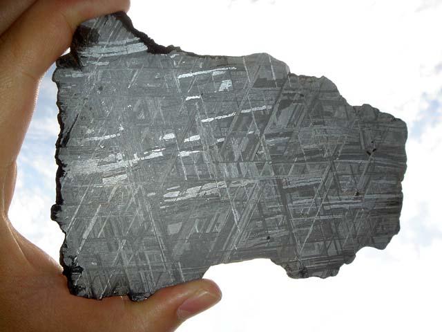 Muonionalusta Meteorite - ETCHED slice! (142.6 grams)