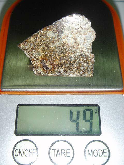 Stone Meteorite NWA 869 Chondrite (4.9 g.) 6