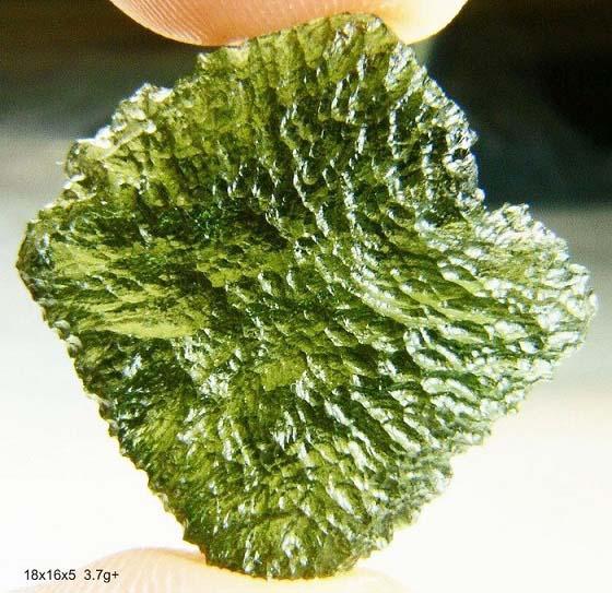 สะเก็ตดาว โมดาไวต์ (Moldavite) 18.5ct - 3.7 g