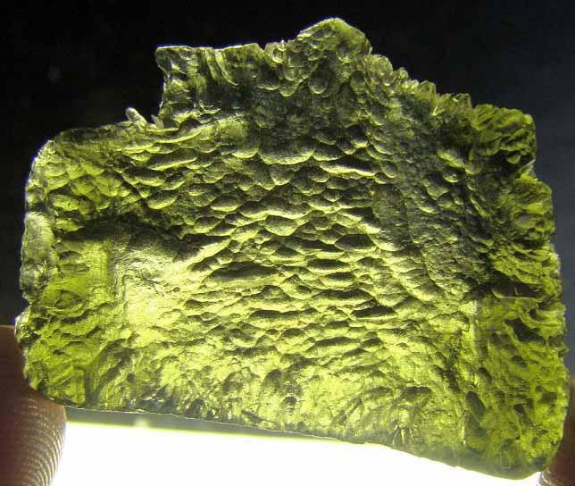 สะเก็ตดาว โมดาไวต์ (Moldavite) 52ct - 10.4 g.