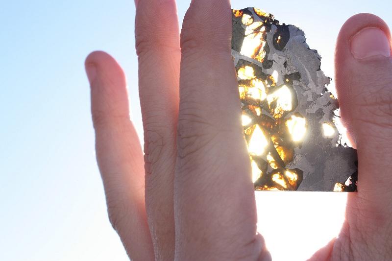 Stony Iron Meteorite - Pallasite (11.3 g.)
