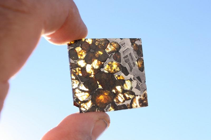 Stony Iron Meteorite - Pallasite (13.5 g.)