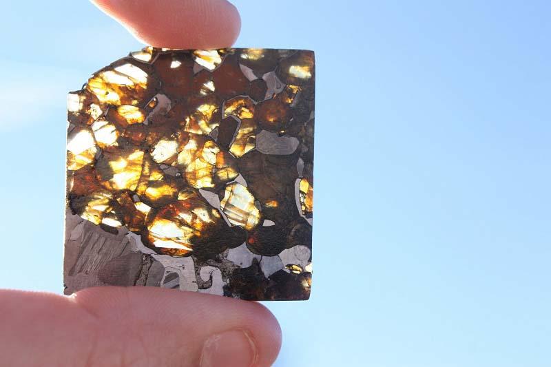 Stony Iron Meteorite - Pallasite (10.3 g.)