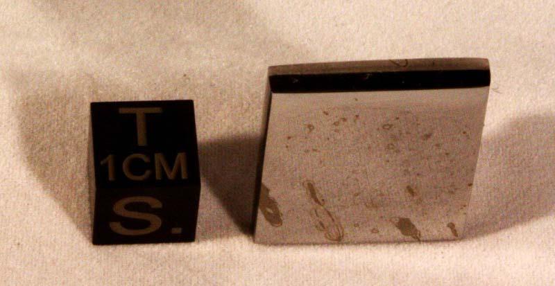 Dronino Meteorite 13 gram polished Part Slice
