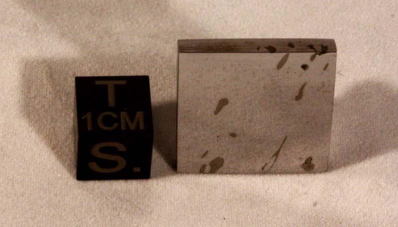 Dronino Meteorite 11.4 gram polished Part Slice
