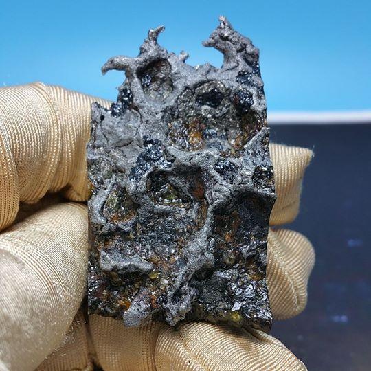 Stony Iron Meteorite - Pallasite (51 g.)