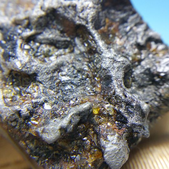 Stony Iron Meteorite - Pallasite (51 g.) 6