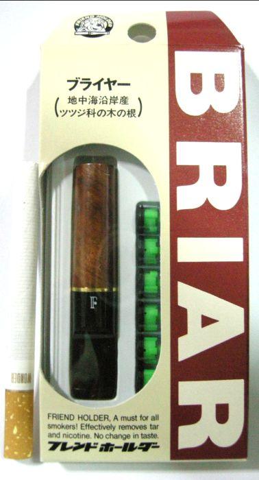 ที่กรองบุหรี่ Friend Holder แบบดีดไม่ได้ ( ปลายทำจากเหง้ากุหลาบป่า ) กล่องแบบแขวน