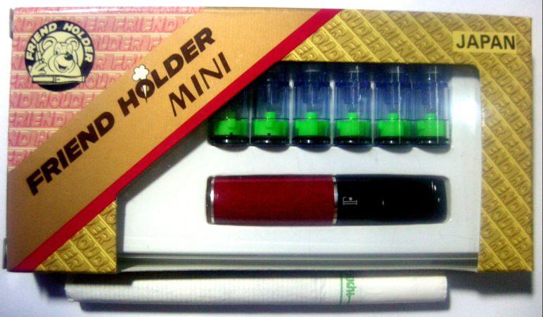 ที่กรองบุหรี่ Friend Holder แบบสั้น  ดีดไม่ได้ ( สีแดงเลือดหมู  )
