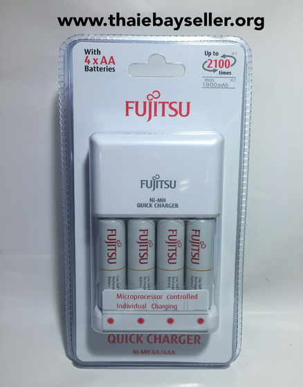 ขายเครื่องชาร์จแบตเตอรี่ Fujitsu Ni-MH Quick Charger พร้อม Battery AA x 4 ก้อน ของใหม่ ของแท้
