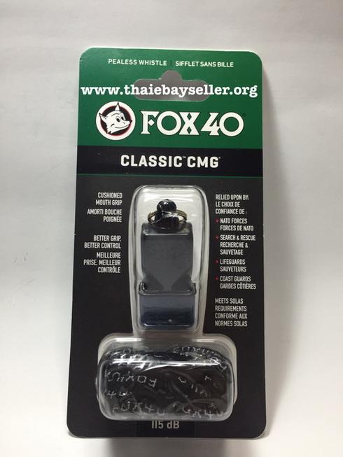 นกหวีด FOX 40 Classic CMG สีดำ ของแท้ ของใหม่