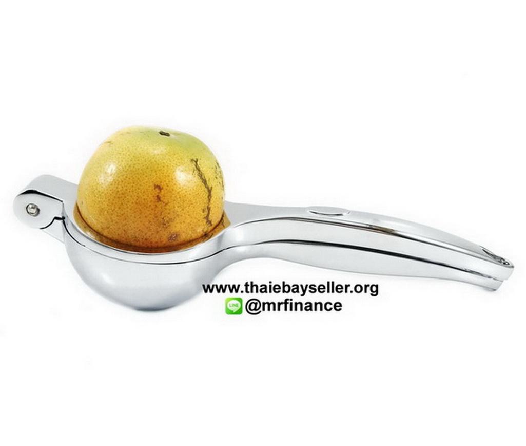 ที่บีบมะนาวสแตนเลสอย่างดี เส้นผ่าศูนย์กลาง 6 ซม. (Manual Lemon Squeezer) ความยาว 22 ซม.