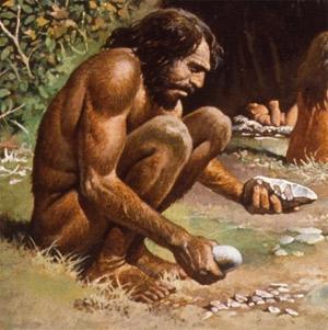 มีดสมัยยุคหิน (Palaeolithic)