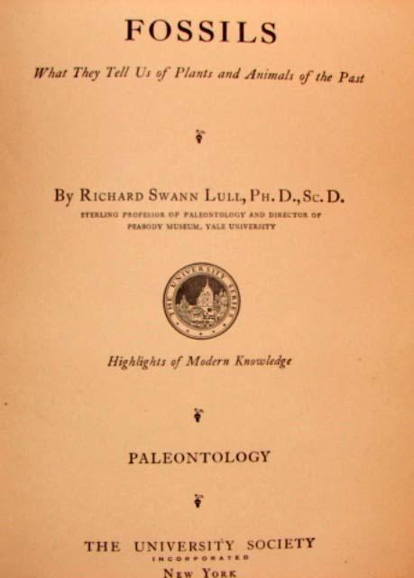 1931 FOSSILS Book PALEONTOLOGY University Society 1
