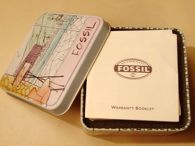 FOSSIL WATCH -(Michelin) BRAND NEW IN TIN !~Excellent 3