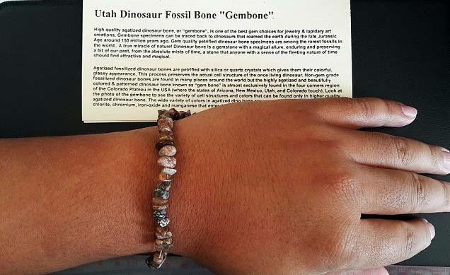 ลูกปัดกำไล่ข้อมือกระดูกไดโนเสาร์ (Dinosaur Bone Gem Beads) 4