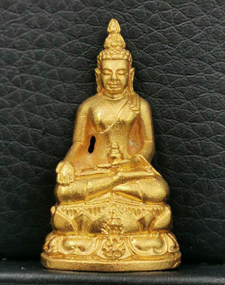 พระกริ่งไพรีพินาศ นวปทุม ภปร.รุ่นแรกของประเทศไทย ปี2535 เนื้อทองคำ 20g. ในหลวงเททอง สภาพสวย
