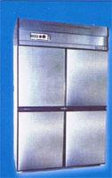 ตู้แช่เย็นสแตนเลส ฟรีส 4 ประตู ระบบเดินท่อ