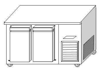 ตู้แช่นอน 2 ประตู ฝาทึบ ฟรีส ระบบเดินท่อความเย็น
