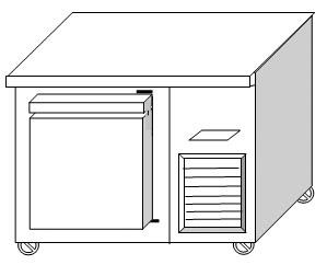 ตู้แช่นอน 1 ประตู ฝาทึบ ฟรีส ระบบเดินท่อความเย็น