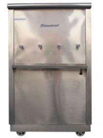 ตู้น้ำเย็นสแตนเลส 4 ก๊อก แบบต่อท่อ