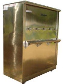 ตู้น้ำเย็นสแตนเลส 5 ก๊อก แบบต่อท่อ