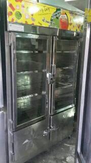 ตู้แช้สแตนเลส 4ประตู มือ2