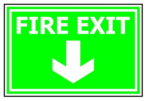 ป้าย Fire Exit รหัส SA-52