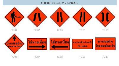 ป้ายงานก่อสร้าง (Construction Work Zone Sign)