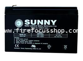 แบตเตอรี่แห้งชนิดตะกั่วกรดขนาด 12V-12AH ยี่ห้อ Sunny