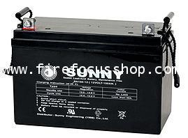 แบตเตอรี่แห้งชนิดตะกั่วกรดขนาด 12V-100AH ยี่ห้อ Sunny