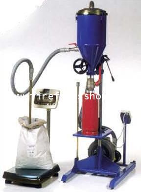 เครื่องเติมเคมีถังดับเพลิงชนิดผงเคมีแห้ง
