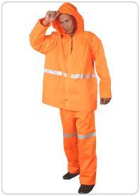 ชุดกันฝนสีส้ม พลาสติกร่มแบบหนา อย่างดี