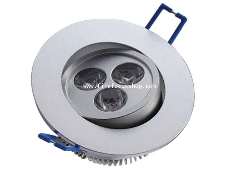 โคม Down Light สำหรับหลอด Dicroic Power LED แบบปรับหมุนได้ รุ่น HD08-3LED ยี่ห้อ Sunny