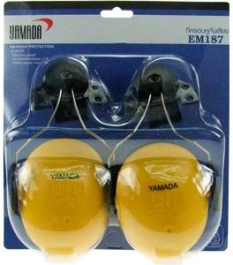 ครอบหูลดเสียงได้ 27db แบบติดหมวกนิรภัย รุ่น EM187 ยี่ห้อ Yamada