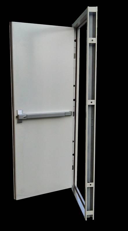 ประตูทนไฟบานเดี่ยว 80x200 cm.  แบบคานผลัก รุ่น DM-8 ไม่รวมคานผลัก,กุญแจมือจับ,โช็คอัพ