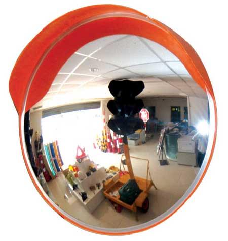 กระจกโค้งสะท้อนโพลีคาร์บอเนตแบบใช้ภายนอกอาคาร กว้าง 24 นิ้ว รุ่น CMO-60 ยี่ห้อ 6road