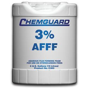 น้ำยาฟองโฟม AFFF 3 เปอร์เซนต์ ขนาด 19 ลิตร  รุ่น C303P ยี่ห้อ CHEMGUARD มาตรฐาน UL listed