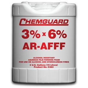 น้ำยาฟองโฟม 3x6 เปอร์เซนต์ AR-AFFF ขนาด 19 ลิตร  รุ่น C363P ยี่ห้อ CHEMGUARD มาตรฐาน UL listed