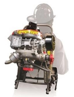 ปั๊มน้ำดับเพลิงสะพายหลังเครื่องยนต์เบนซิน 8HP-40 GPM ที่ 100psi. รุ่น 20FP-C8P Fyr Pak ยี่ห้อ HALE