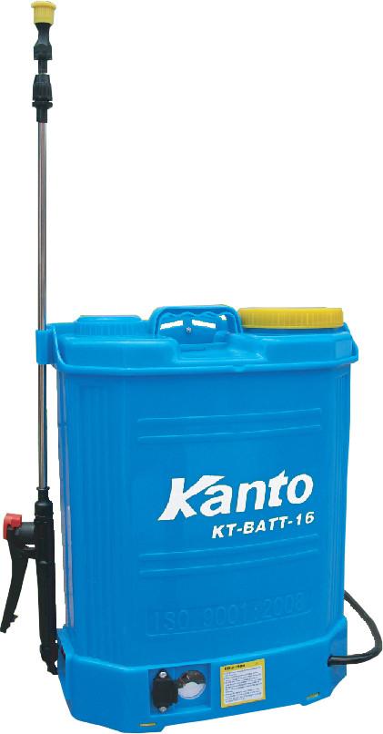 ถังฉีดน้ำดับไฟป้า 16 ลิตรแบบสะพายหลังชนิดมอเตอร์ปั๊มน้ำ 12 VDC รุ่น KT-BATT-16 ยี่ห้อ KANTO