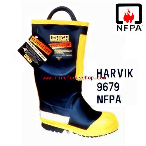 รองเท้าบูธดับเพลิง ทนแรงดันไฟฟ้า 18 kV รุ่น 9679 ยี่ห้อ Harvik มาตรฐาน NFPA