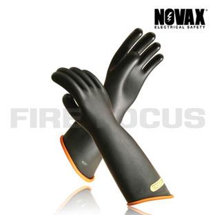 ถุงมือป้องกันไฟฟ้าแรงสูง Class 00 - 2,500V Tested, Contour cuff (Black Orange) ยี่ห้อ NOVAX