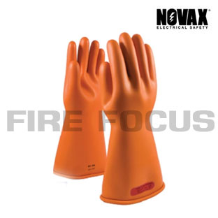 ถุงมือยางป้องกันไฟฟ้าแรงสูง Class 0 - 5,000V Tested, (Orange)  ยี่ห้อ NOVAX