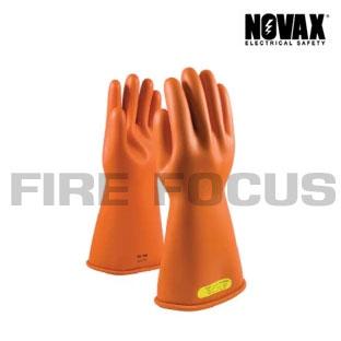 ถุงมือยางป้องกันไฟฟ้าแรงสูง Class 2 - 20,000V Tested, Straight cuff (Orange) ยี่ห้อ NOVAX