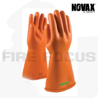 ถุงมือป้องกันไฟฟ้าแรงสูง Class 3 - 30,000V Tested, Straight cuff (Orange) ยี่ห้อ NOVAX